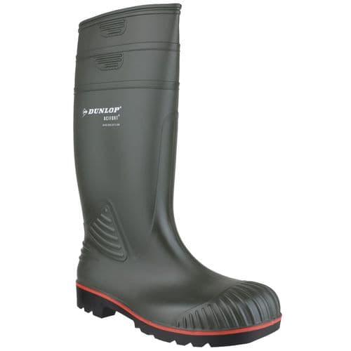 Dunlop Acifort Safety Wellingtons Green